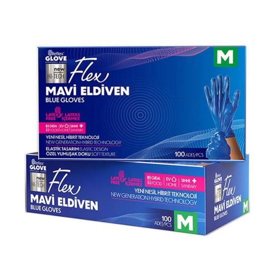 REFLEX FLEX MAVI ELDIVEN 100 ADET MEDIUM